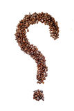 Coffee beans in a shape of a question mark Stock Images