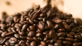 Coffee beans shooting with high speed camera. Coffee beans shooting with high speed camera stock video footage