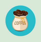 Coffee beans with Royalty Free Stock Photos