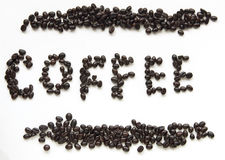 Coffee beans sign Stock Photography