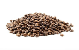 Coffee beans on the small pile. Royalty Free Stock Photography