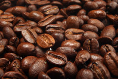 Coffee beans smoked  texture background Royalty Free Stock Images