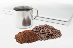 Coffee Beans and Soluble Coffee Stock Images