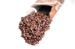 Coffee beans. Some coffee beans on white background stock images