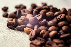 Coffee beans. spilled coffee beans. Beans Stock Photo