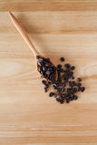 Coffee Beans. With a spoon Royalty Free Stock Images