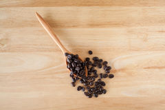 Coffee Beans. With a spoon Stock Photos