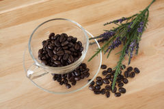 Coffee Beans. With a spoon Stock Photo