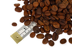 Coffee beans of standard size Royalty Free Stock Photos