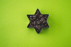 Coffee beans  star stock images