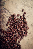 Coffee beans on a stone background Stock Photography