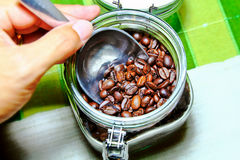 Coffee Beans Storage Stock Photos