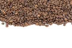 Coffee beans stripe Stock Image