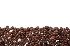 Coffee beans stripe isolated on white background Royalty Free Stock Photography