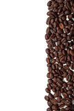 Coffee beans stripe on white background Stock Images