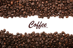 Coffee beans stripes background Stock Photography