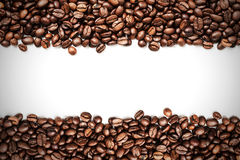 Coffee beans stripes Royalty Free Stock Image
