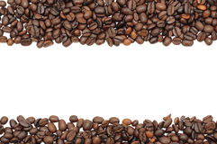 Coffee beans stripes, isolated Stock Images