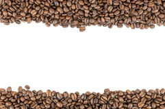 Coffee beans stripes Royalty Free Stock Photo