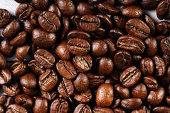 Coffee beans. On a table Royalty Free Stock Photos