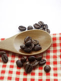 Coffee beans on the table Royalty Free Stock Images