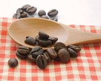 Coffee beans on the table Royalty Free Stock Image