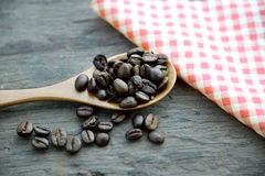 Coffee beans on the table Stock Photo