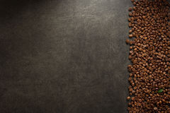 Coffee beans at table Royalty Free Stock Photography