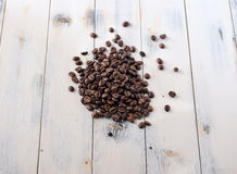 Coffee beans on a table Royalty Free Stock Photos