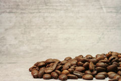 Coffee beans at texture Stock Photos