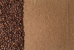 Coffee beans and texture Royalty Free Stock Photo