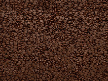 Coffee beans texture or background Royalty Free Stock Photography
