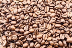 Coffee beans texture background close isolated on white Royalty Free Stock Images