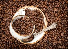 Coffee beans texture background Food drinks. Coffee beans texture background. Food and drinks royalty free stock images