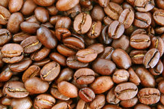 Coffee beans texture Royalty Free Stock Photos