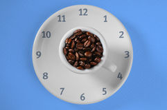 Coffee beans time Stock Photography