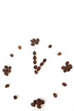 Coffee beans time concept idea Royalty Free Stock Photography