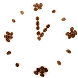 Coffee beans time concept idea Stock Photography