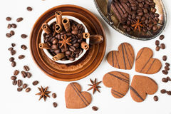 Coffee beans. Top view. Stock Photography