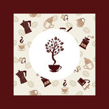 Coffee beans tree - Illustration Stock Images
