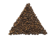 Coffee Beans triangle shape Royalty Free Stock Photography