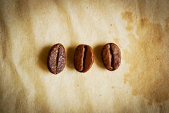 Coffee beans trio Royalty Free Stock Image
