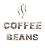 Coffee beans Type on white area background Stock Photo