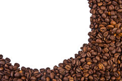 Coffee beans under Royalty Free Stock Photos