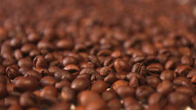 Coffee beans. Vertical and horizontal pan. Close-up. 2 shots stock video footage