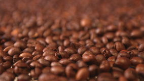Coffee beans. Vertical and horizontal pan. Close-up. 2 shots stock video