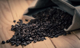 Coffee beans in vintage colour studio shot Royalty Free Stock Images