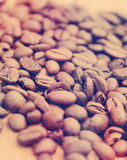 Coffee beans with vintage effect Royalty Free Stock Images