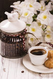 Coffee beans in vintage jar Royalty Free Stock Images