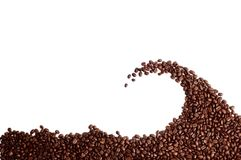 Coffee beans wave Royalty Free Stock Photo